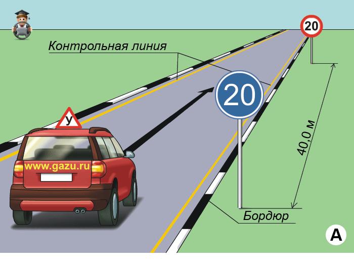 Упражнение Полоса разгона на автоматизированном автодроме