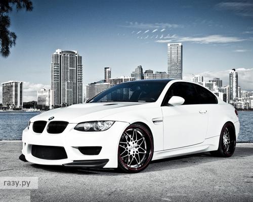 белые машины картинки