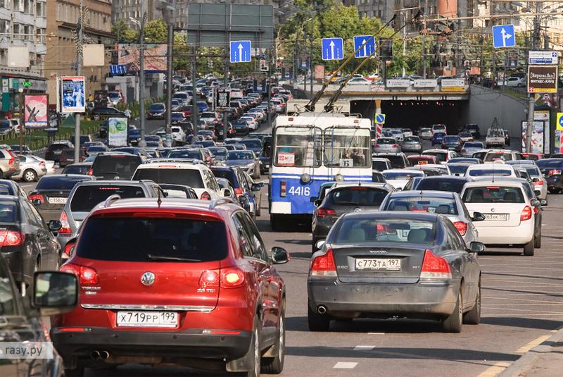 пробка в Москве на Садовом кольце